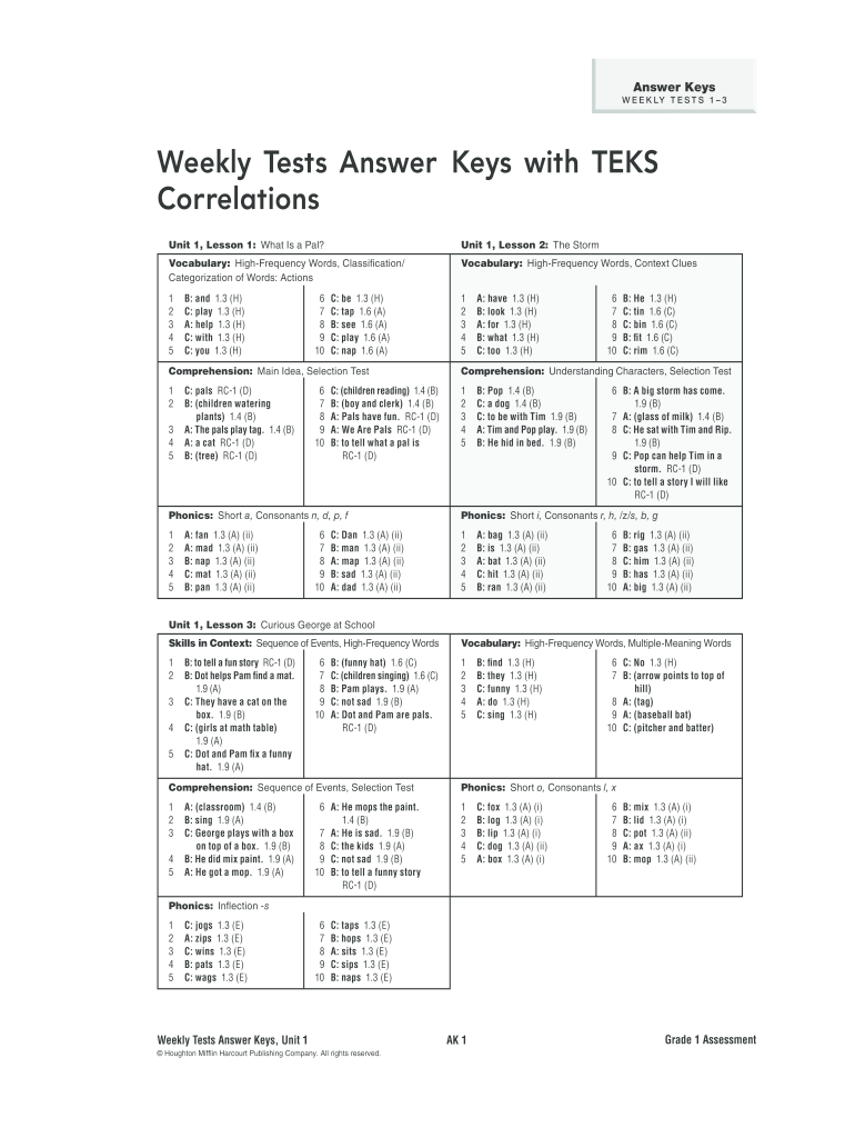 Journeys grade 3 weekly tests pdf - Fill Out and Sign ...