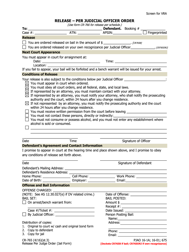 Jail Release Form Fill Out And Sign Printable Pdf Template Signnow