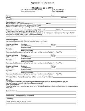 Whole foods online job application form - Fill Out and Sign