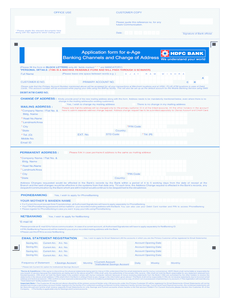 Get And Sign Eage Form Hdfc 2010-2021