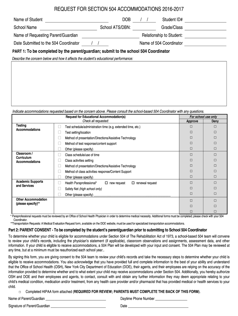 Nyc 504 Form - Fill Out and Sign Printable PDF Template ...