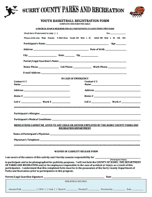 youth basketball registration form fill out and sign. Black Bedroom Furniture Sets. Home Design Ideas