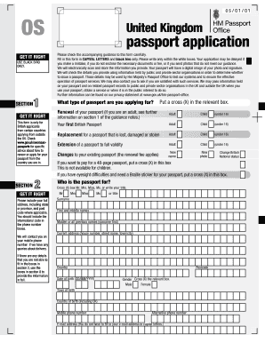 This is an image of Satisfactory Printable Passport Application Forms