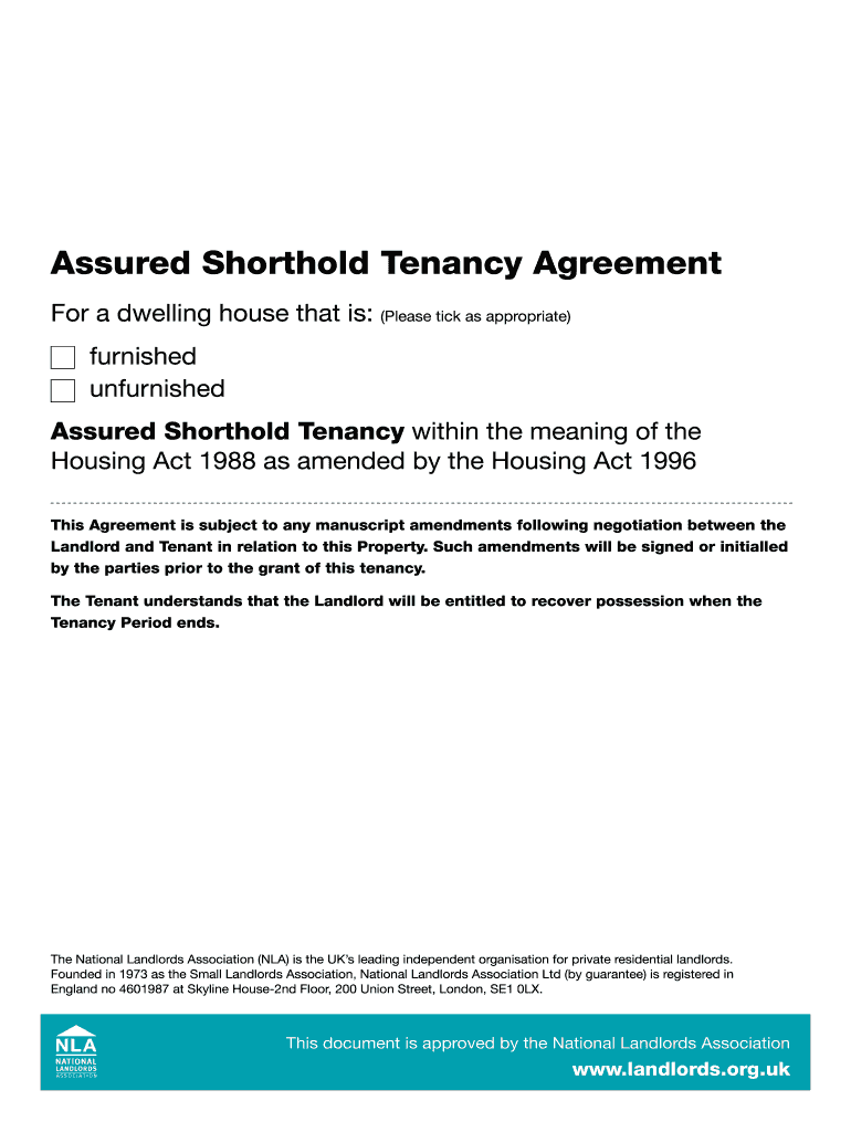 Nla Tenancy Agreement Fill Out And Sign Printable Pdf Template Signnow