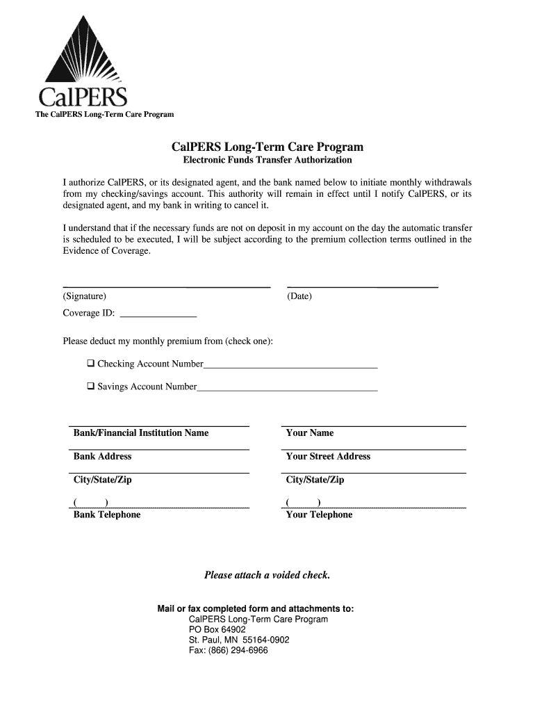 Get And Sign Calpers Long Term Care Website Form