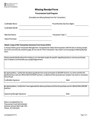 Missing form - Fill Out and Sign Printable PDF Template