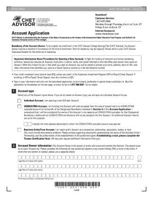 Chet advisor 529 application form - Fill Out and Sign