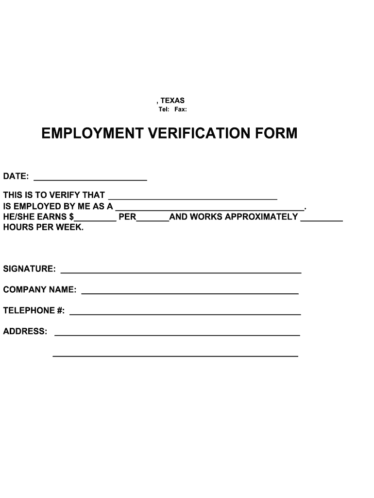 Template Employment Verification Letter from www.signnow.com
