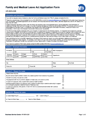 photo about Fmla Printable Forms identified as Mta fmla types - Fill Out and Indicator Printable PDF Template