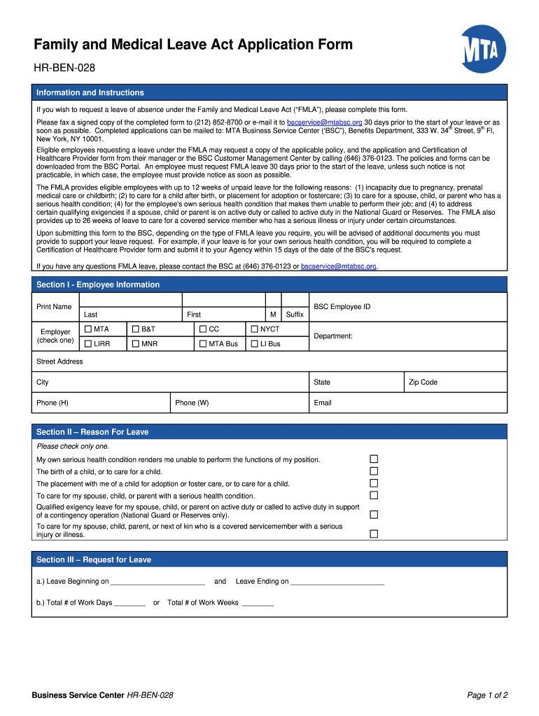 Get And Sign Printable Fmla Forms
