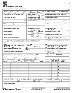 graphic relating to 1500 Claim Form Printable known as Physical fitness declare variety 1500 - Fill Out and Indicator Printable PDF