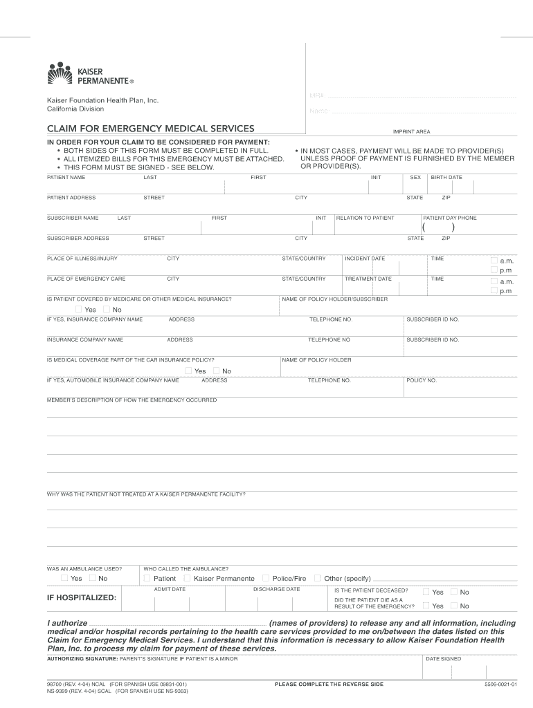 Get And Sign Printable Hospital Discharge Paper 2004-2021 Form