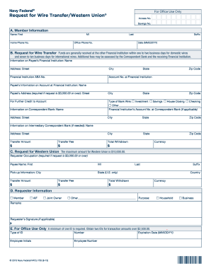 Get And Sign How To Send Money From Navy Federal Western Union Form