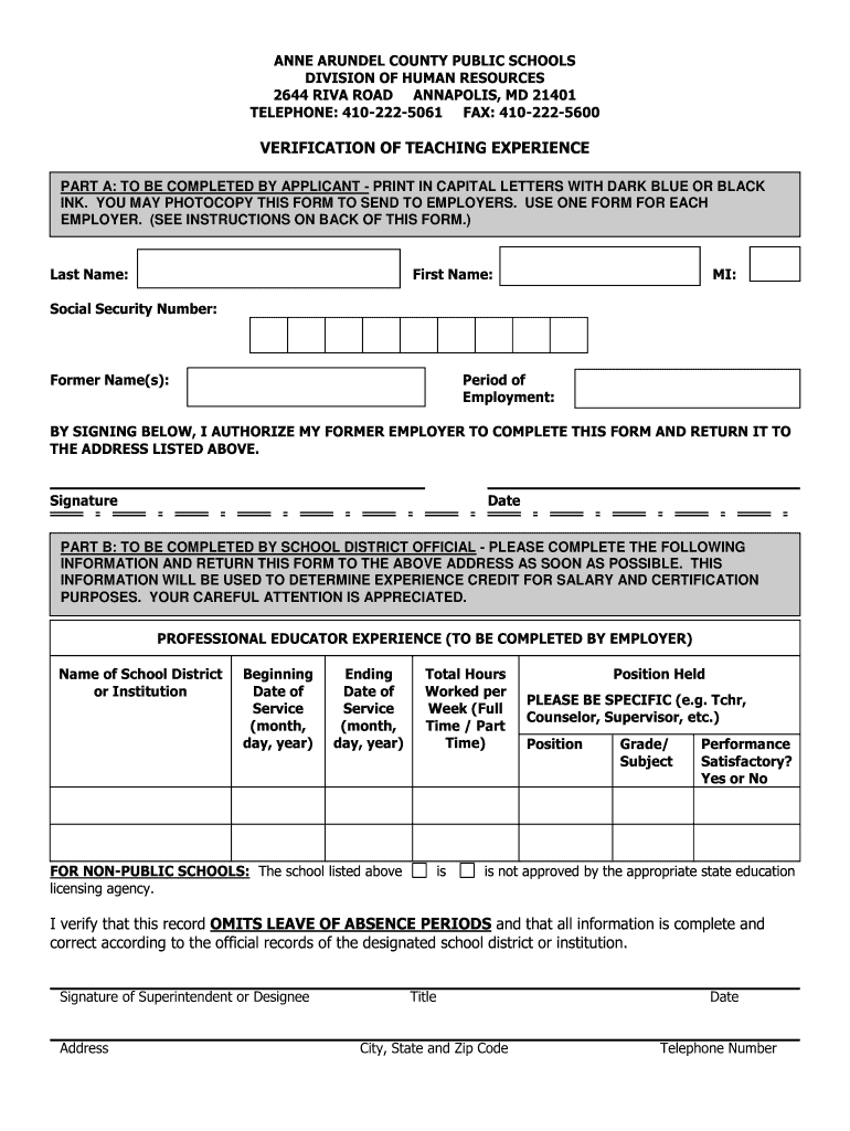 Get And Sign Schools Experience Form