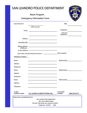 City Of San Leandro >> City Of San Leandro Business License Form Fill Out And