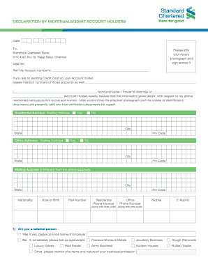 Kyc declaration form - Fill Out and Sign Printable PDF ... on