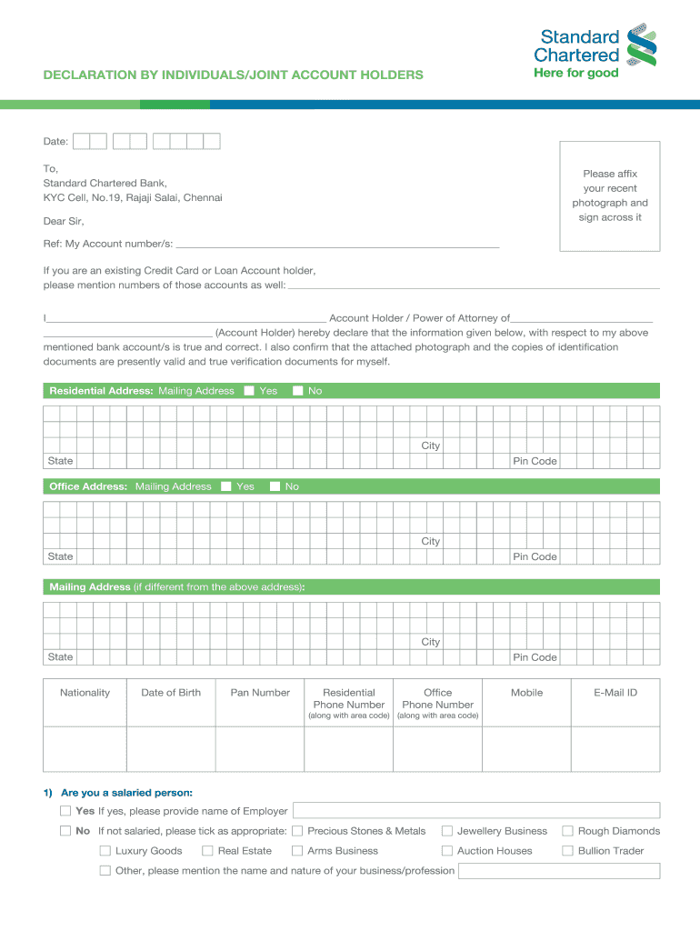 yes bank kyc form pdf