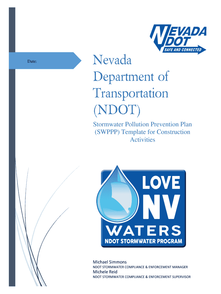 Get And Sign Swppp Template Fillable Form Ndot  Nevada Department Of 2016-2021