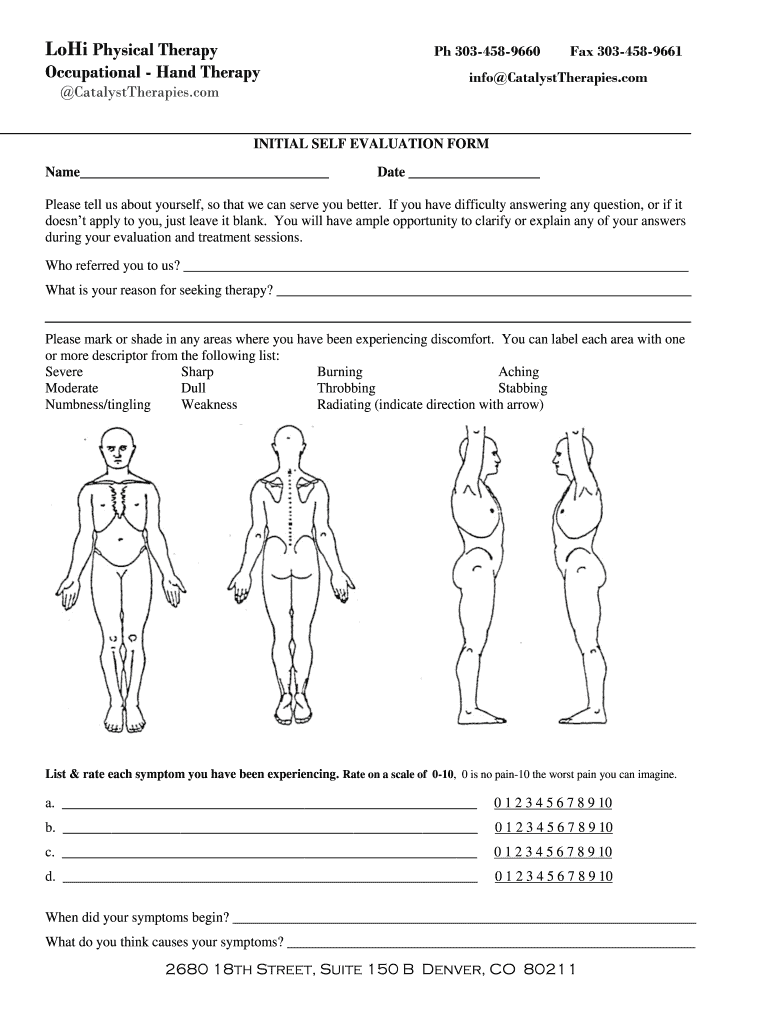 Physical Therapy Evaluation Fill Out And Sign Printable Pdf Template Signnow