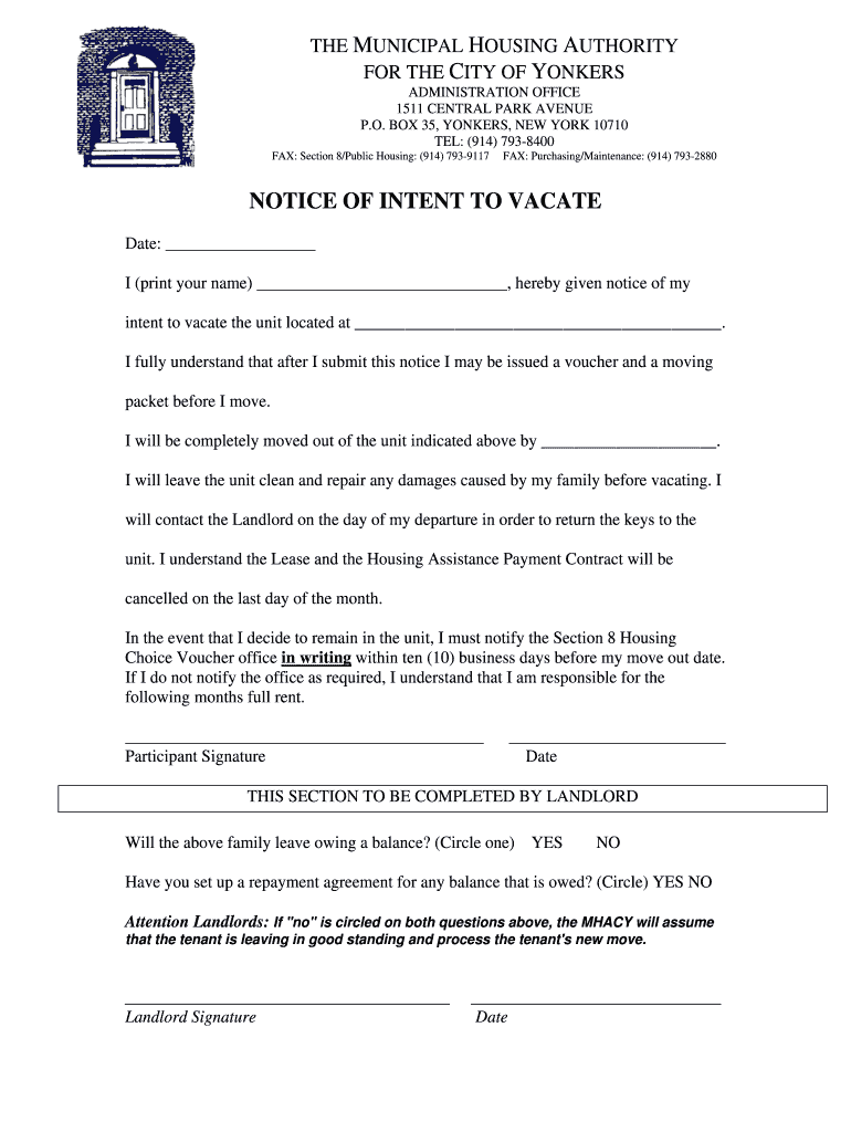 Get And Sign 30 Day Vacate Notice Form