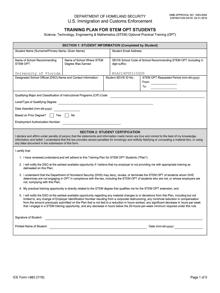 Get And Sign I983 Form 2016-2021