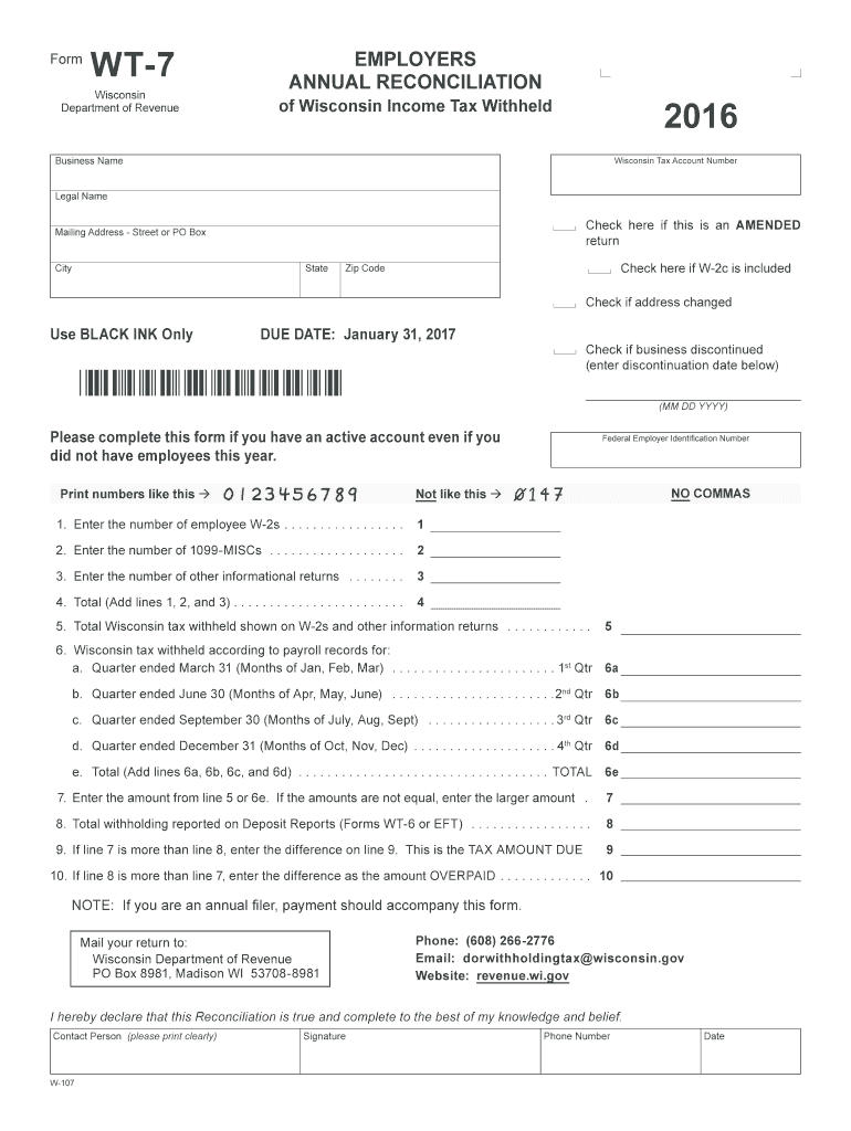 Get And Sign Wisconsin Form Wt 7 2016-2021