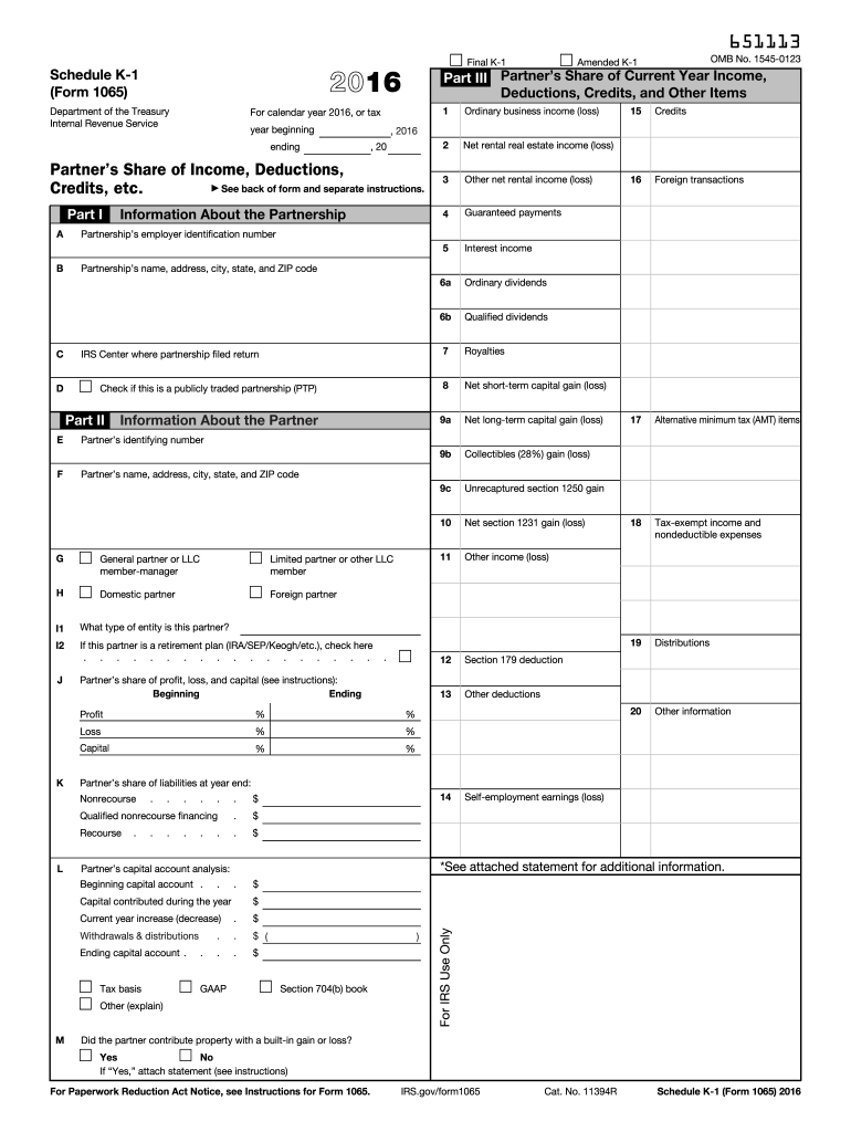 Get And Sign 1065 Form 2016-2021