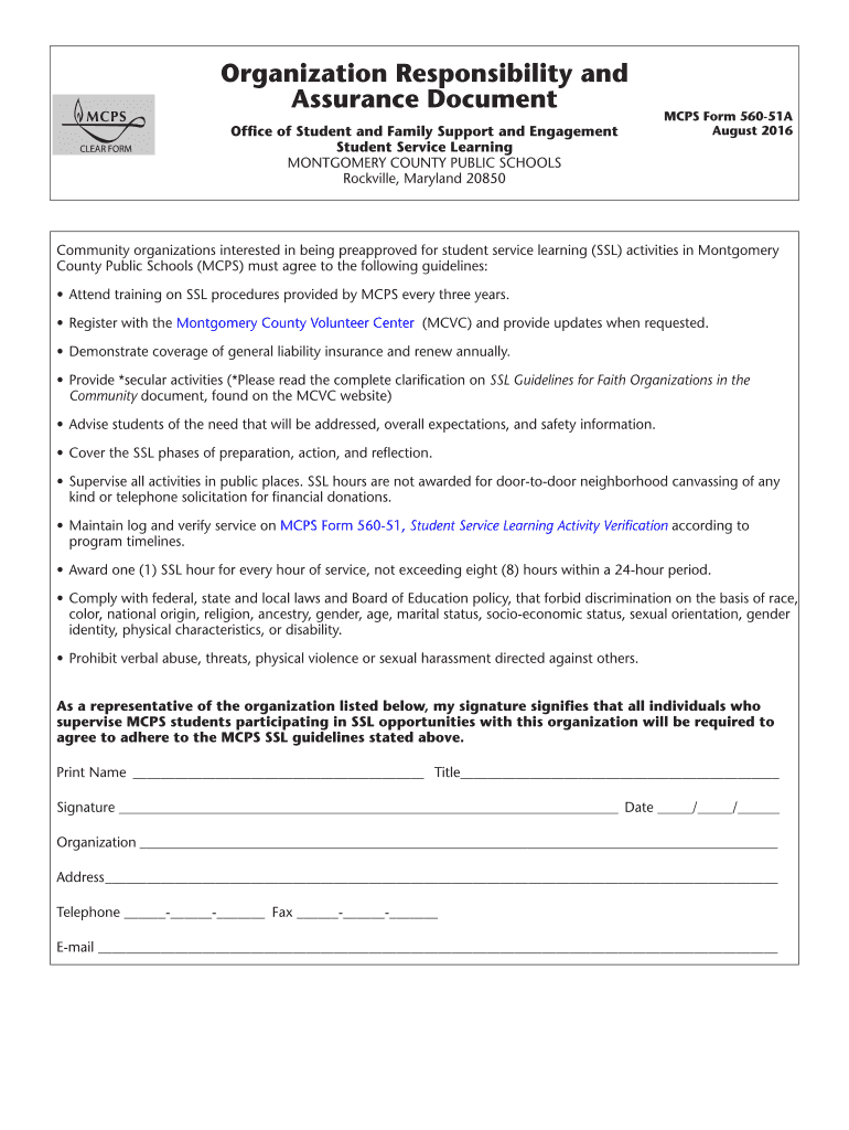Get And Sign Organization Responsibility And 2016-2021 Form