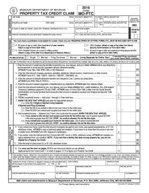 Mo ptc 2016 form - Fill Out and Sign Printable PDF Template