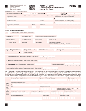Get And Sign Ct 990t  Form 2016-2021