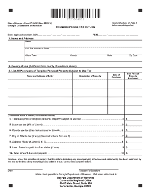 Get And Sign Georgia Form St 3use 2016-2021