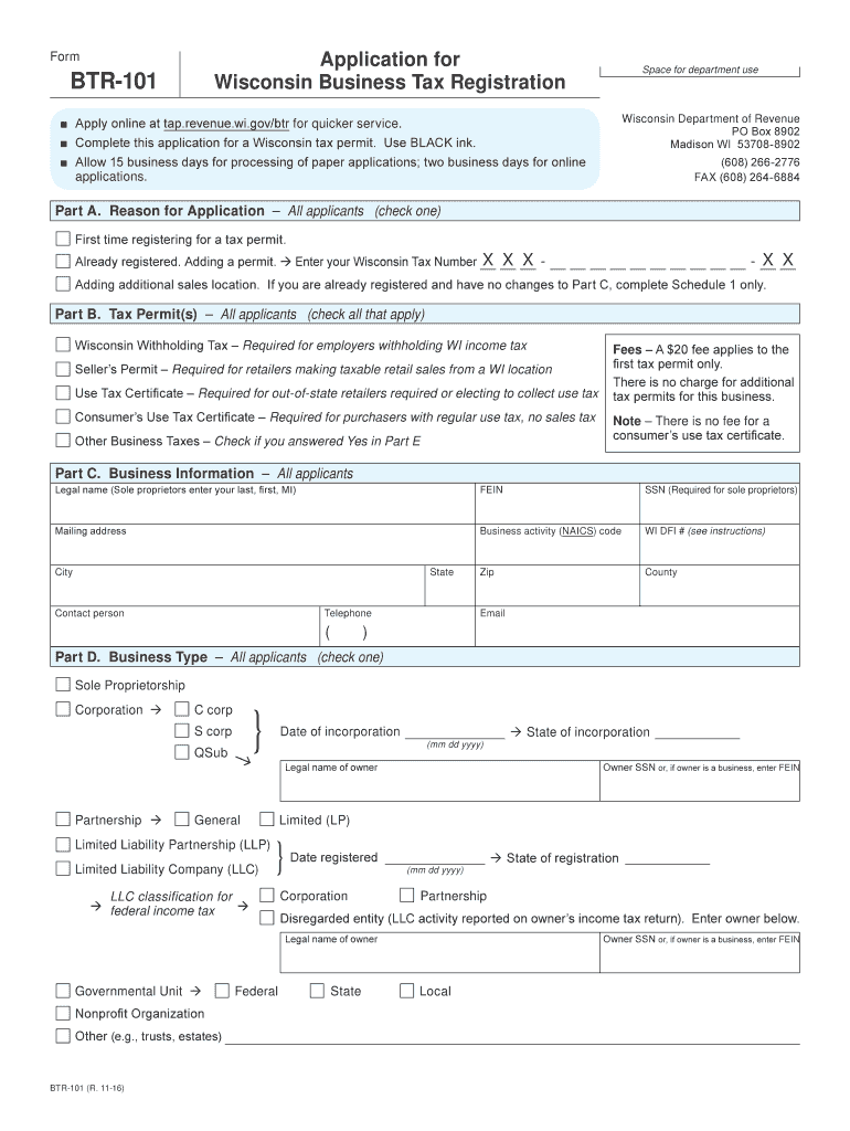 Get And Sign Btr Wi  Form 2016-2021