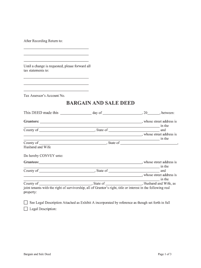 Get And Sign Bargain And Sale Deed Form Oregon
