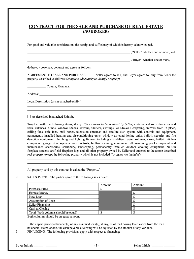 Get And Sign Buy Sell Agreement Montana Form