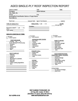 Roof Inspection Report Fill Out And Sign Printable Pdf