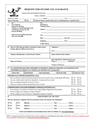 Income tax clearance form - Fill Out and Sign Printable PDF