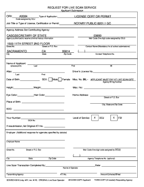 Get And Sign Sf Live Scan Form doc - Fill Out and Sign