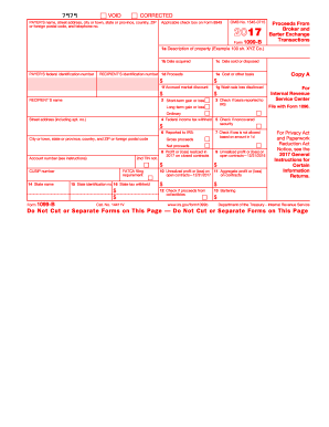 1099 b 2017-2018 form - Fill Out and Sign Printable PDF Template