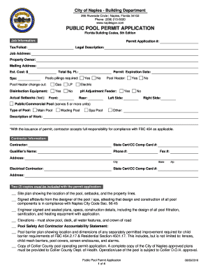 Get And Sign City Of Naples Building Department 2016-2021 Form