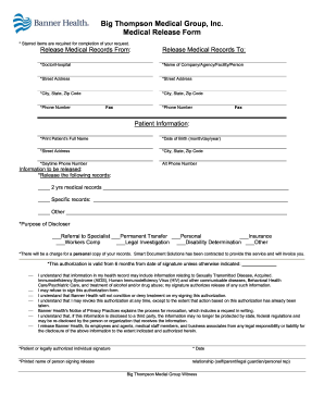 Banner Medical Release Form Fill Out And Sign Printable