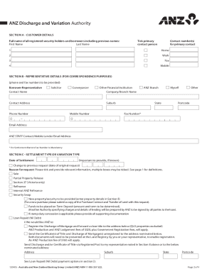 anz discharge mortgage form