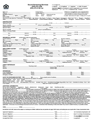 Sound screening services application fillable form - Fill Out and