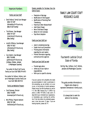Get And Sign Family Law Brochure Fourteenth Judicial Circuit Of BFloridab 2013-2021 Form