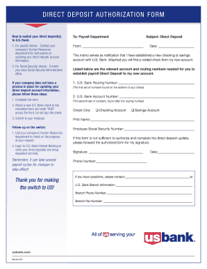 graphic regarding Us Bank Deposit Slip Printable identify Us lender lead deposit permission type - Fill Out and