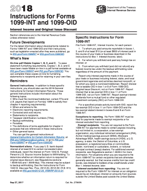 1099 int instructionspdffillercom 2018-2019 form - Fill Out and Sign