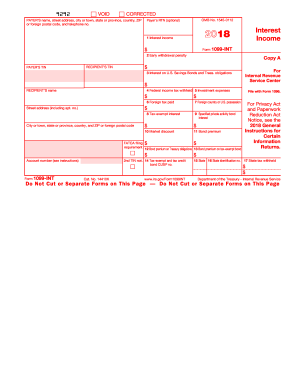 1099 form 2018 printable  Get And Sign 10 10 Int Form - Fill Out and Sign ...