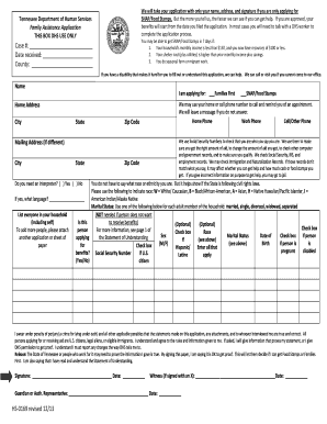 image regarding Printable Food Stamp Application named Put into practice for foods stamps tn type - Fill Out and Indication Printable