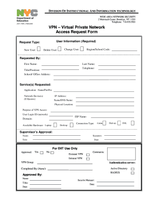 Vpn Access Request Form Template Fill Out And Sign Printable Pdf