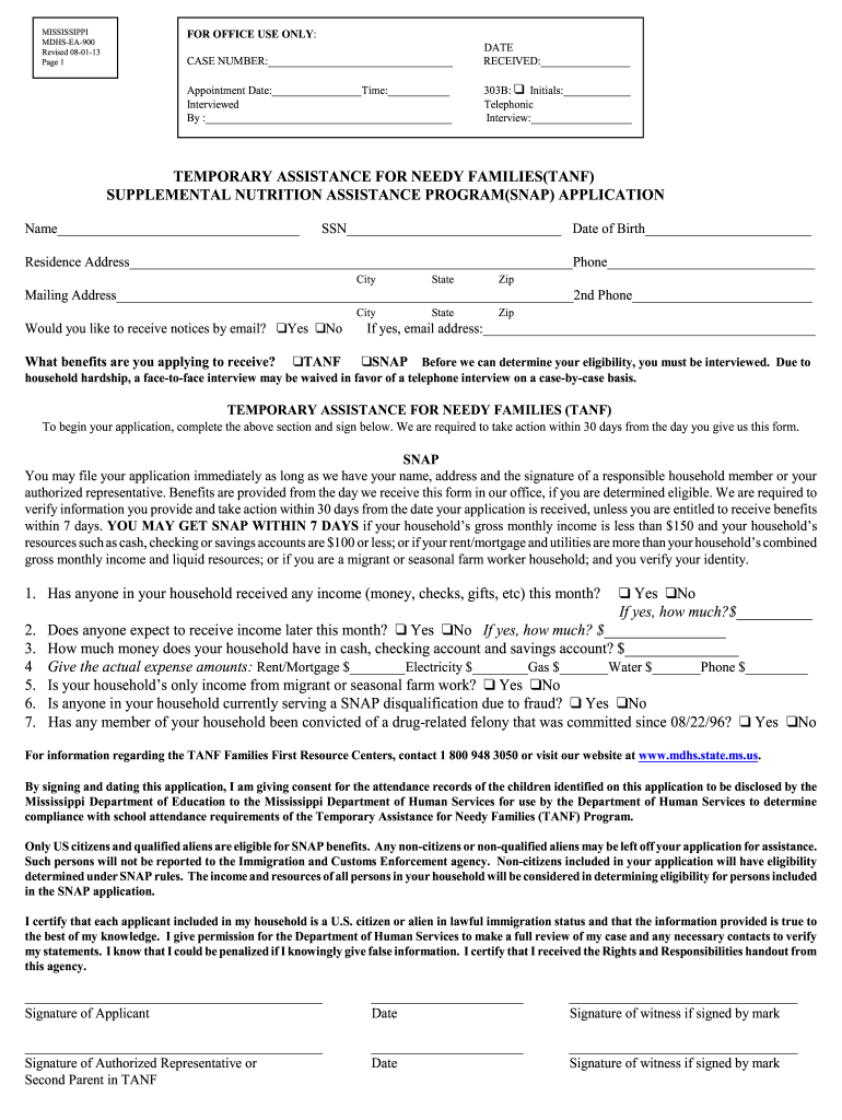Get And Sign Mdhs Snap Application Form 2013-2021