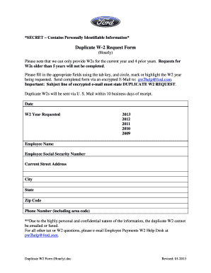 Ford w 2 form - Fill Out and Sign Printable PDF Template | SignNow